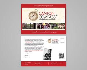 Canton Compass Postcard
