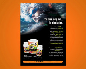 Newt Energy Drink Label and Ad