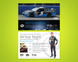 TWC All Star Night Postcard