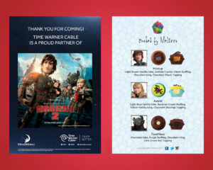 TWC How to Train Your Dragon menu/Thank You Card
