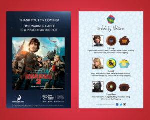TWC How to Train Your Dragon menu/Thank You Card