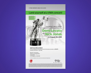 TWC VMA Tickets Poster