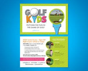 Golf Kids Postcard