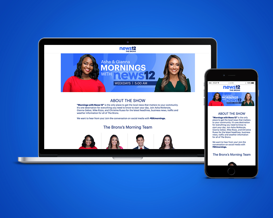 Mornings with News 12 Webpage