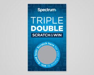 Spectrum Triple Double Scratch & Win Card