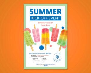 USTA PNW Summer Kick-Off Poster