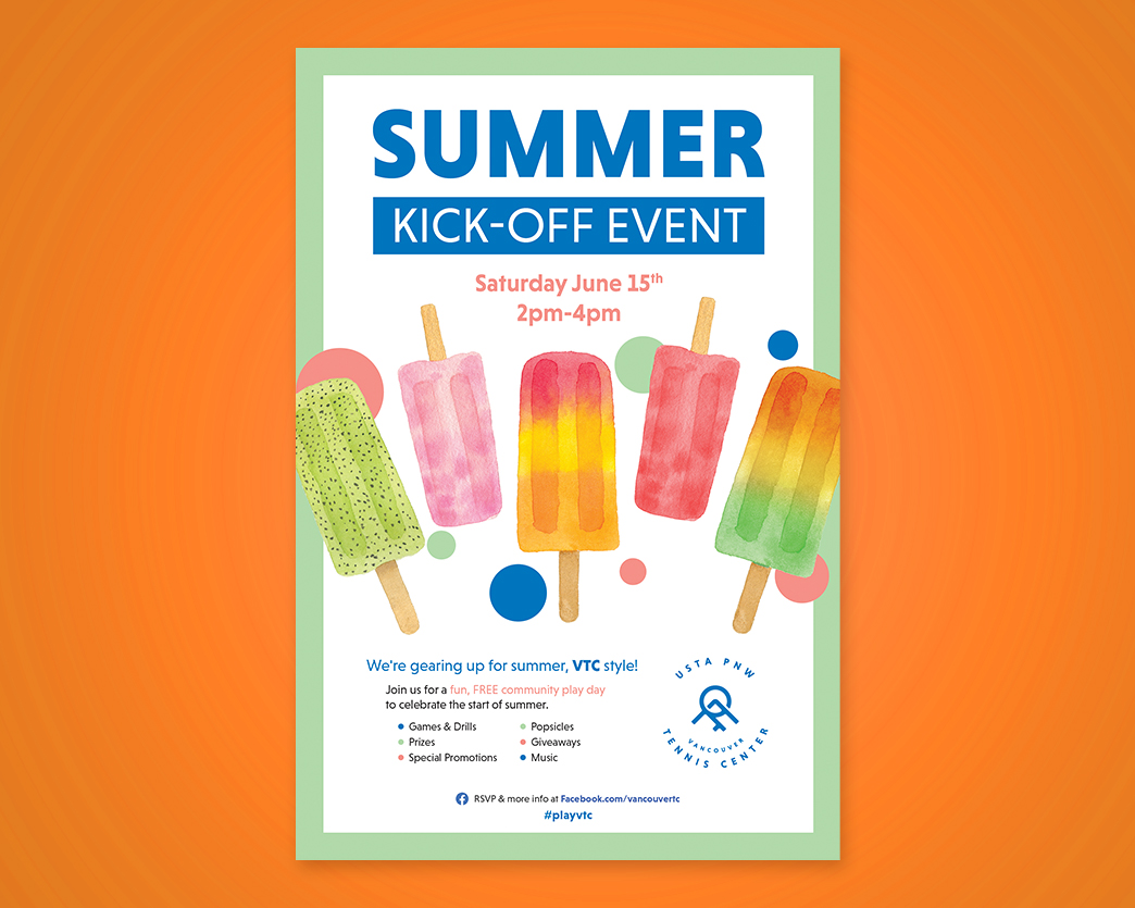 USTA PNW Summer Kick-Off Poster