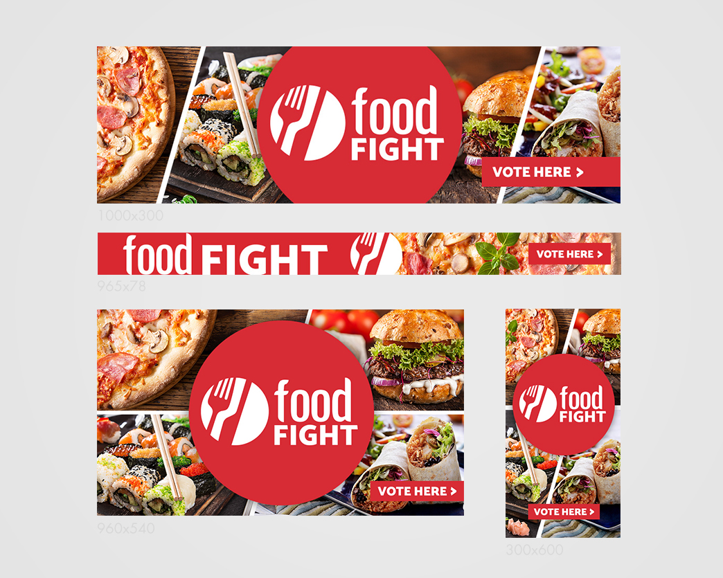 Food Fight Banners