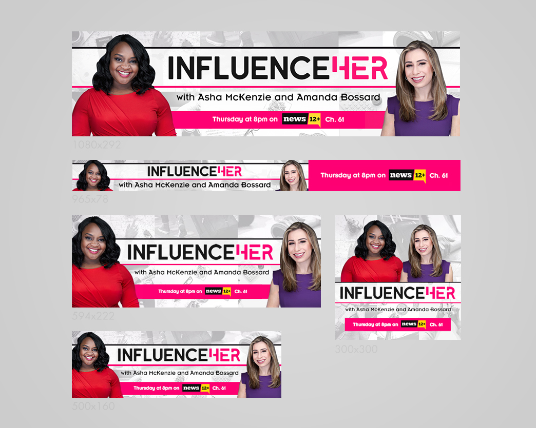 InfluenceHER Web Banners